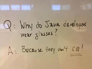 Why do Java developers wear glasses?