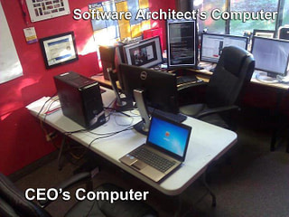 Software Architect's Computer vs. CEO's Computer